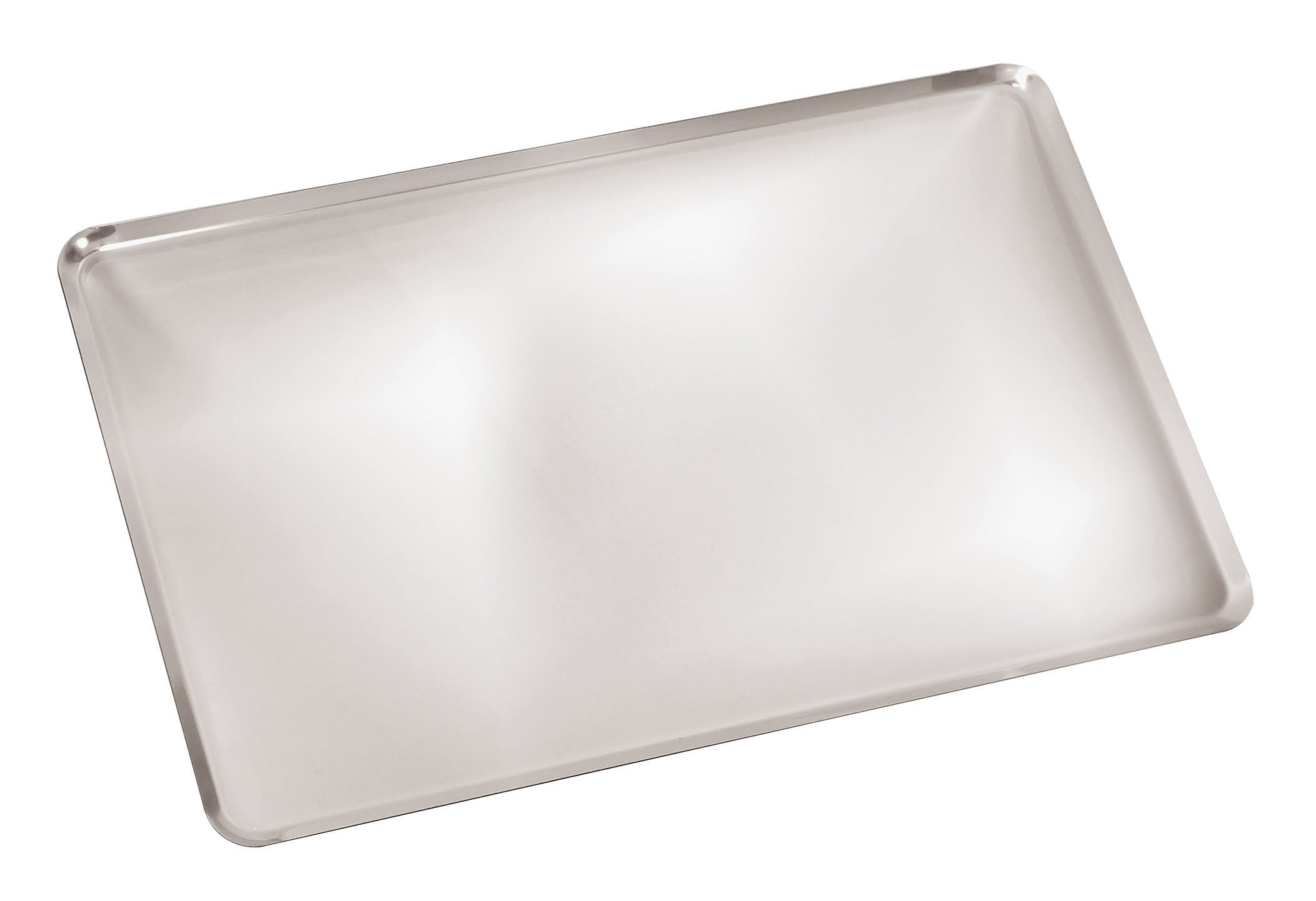 Paderno World Cuisine A4982293 Angled Sides Stainless Steel Baking Sheet, Gray