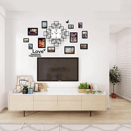 Pinjeer Sala de Estar Moderna Dormitorio silenciado Relojes de Pared Grandes Cocina Simple Sala de Estudio