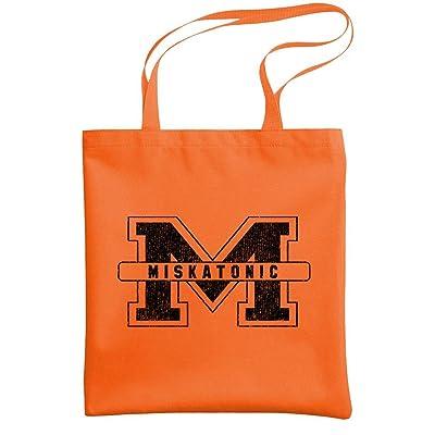 MISKATONIC M - college cthulhu mythos - Heavy Duty Tote Bag, Orange