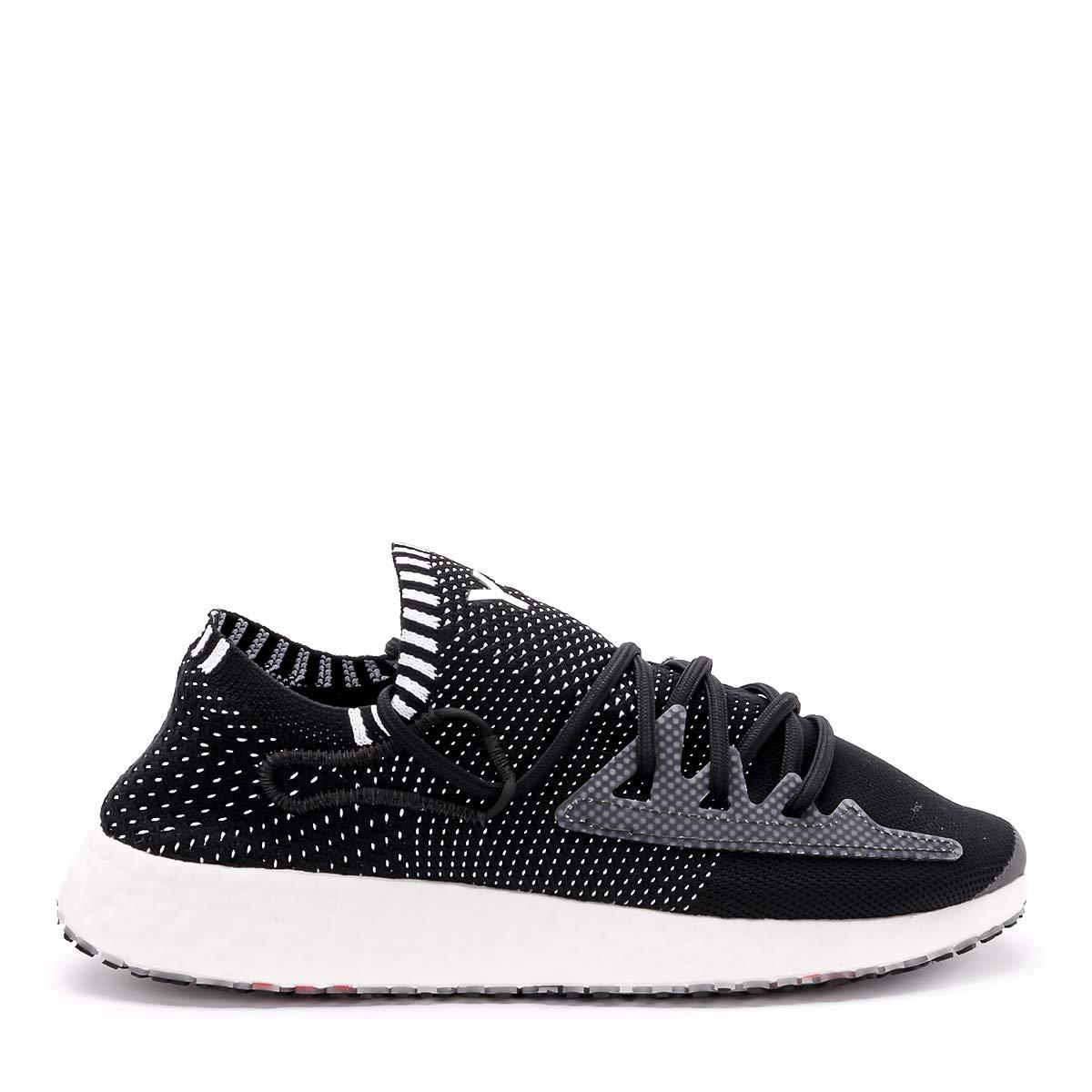 Black Y-3 Man's Raito Racer Black Primeknit Sneaker