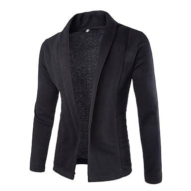 2ccee0449227 Hikenn Herren Mantel Jacke Jacket Anzug Sakkojacke Blazer Freizeit Business  Outwear (XS, Schwarz)