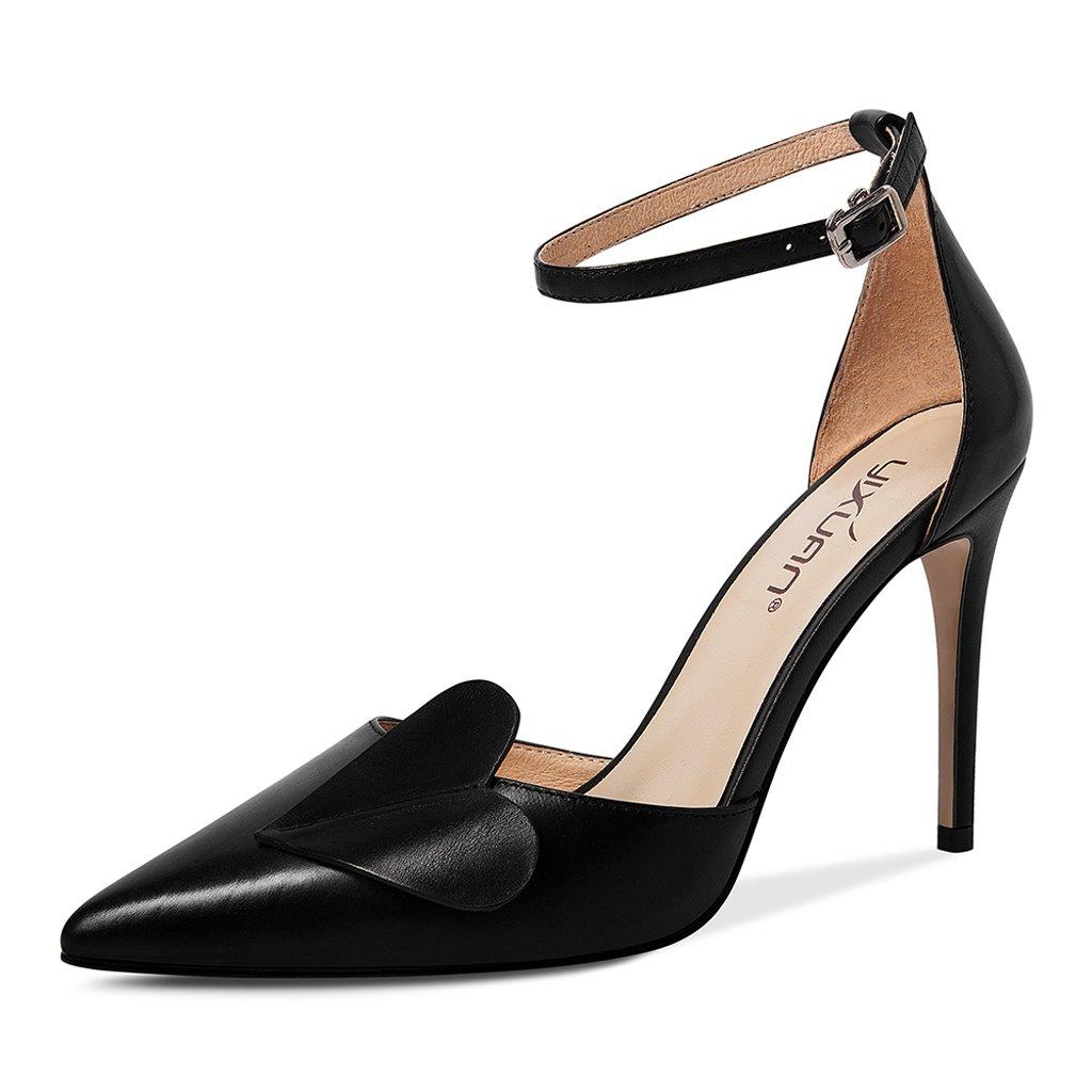 JE schuhe Spitz-Sandaletten mit Feinen Schnallen Baotou Sandalen (Farbe  Schwarz,  Schwarz,  Größe   37) 6f81db