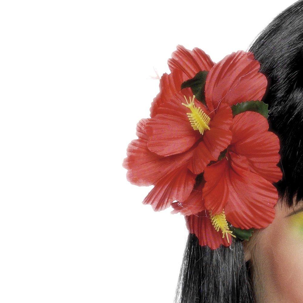 Smiffys Hawaiian Flower Hair Clip Red Smiffys Amazon Toys