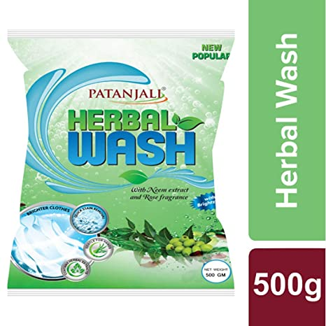 Patanjali Herbal Wash Detergent Powder - 500 g