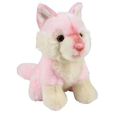 Wildlife Tree 7 Inch Stuffed Pink Wolf Plush Sitting Animal Prism Collection: Toys & Games