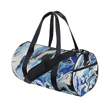 Amazon.com | Duffel Bags Dove Watercolor Liquid Marble ...