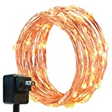 DecorNova Warm White String Lights, 39.4ft 120 LED String Lights with UL Certified for Wedding Parties Patio Home Bedroom