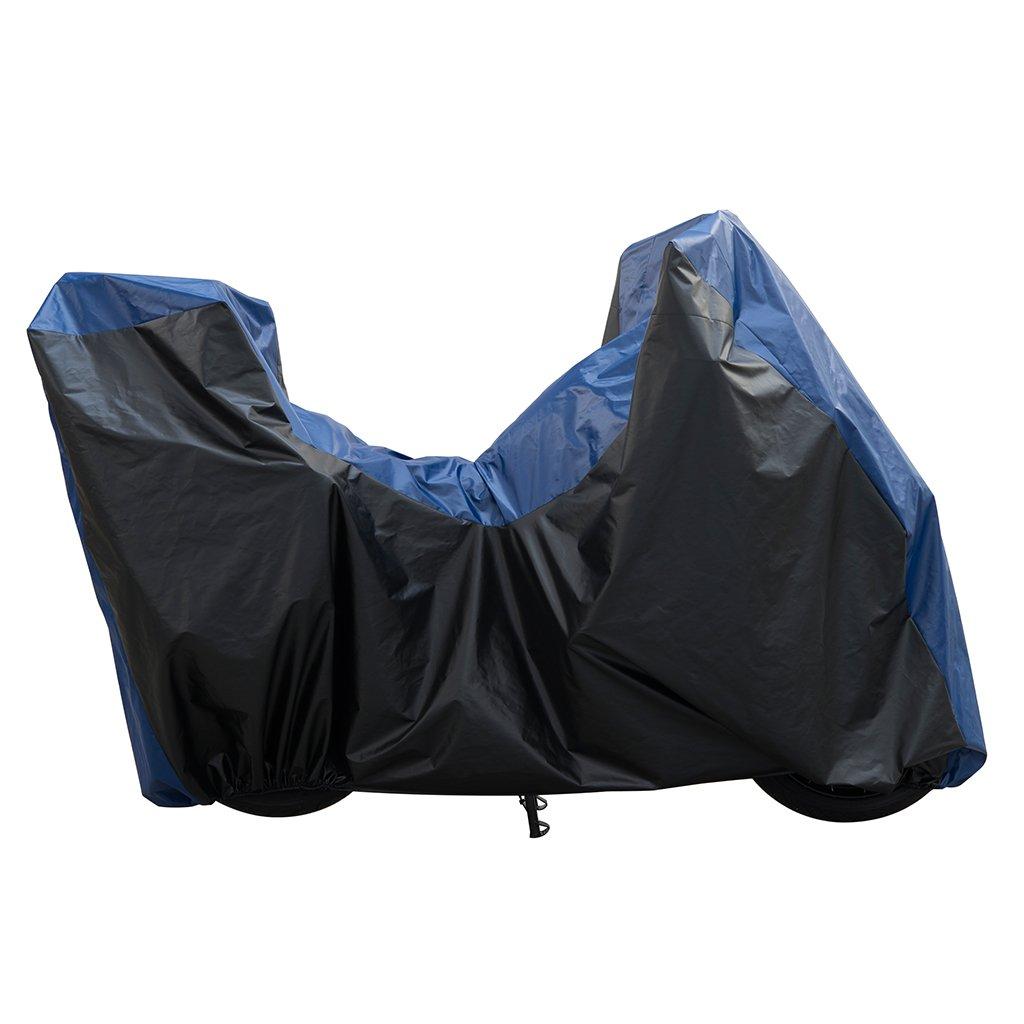 Housse de protection noir/bleu, Bacall California exté rieur pour BMW K 1600 GT ABS K48 | BMW K 1600 GTL ABS K48 | BMW R 1200 RT K26 | BMW R 1200 RT ABS (Wasser) K52 Spinelli