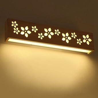 Aoligei Bois massif acrylique romantique pétale simple à LED miroir ...