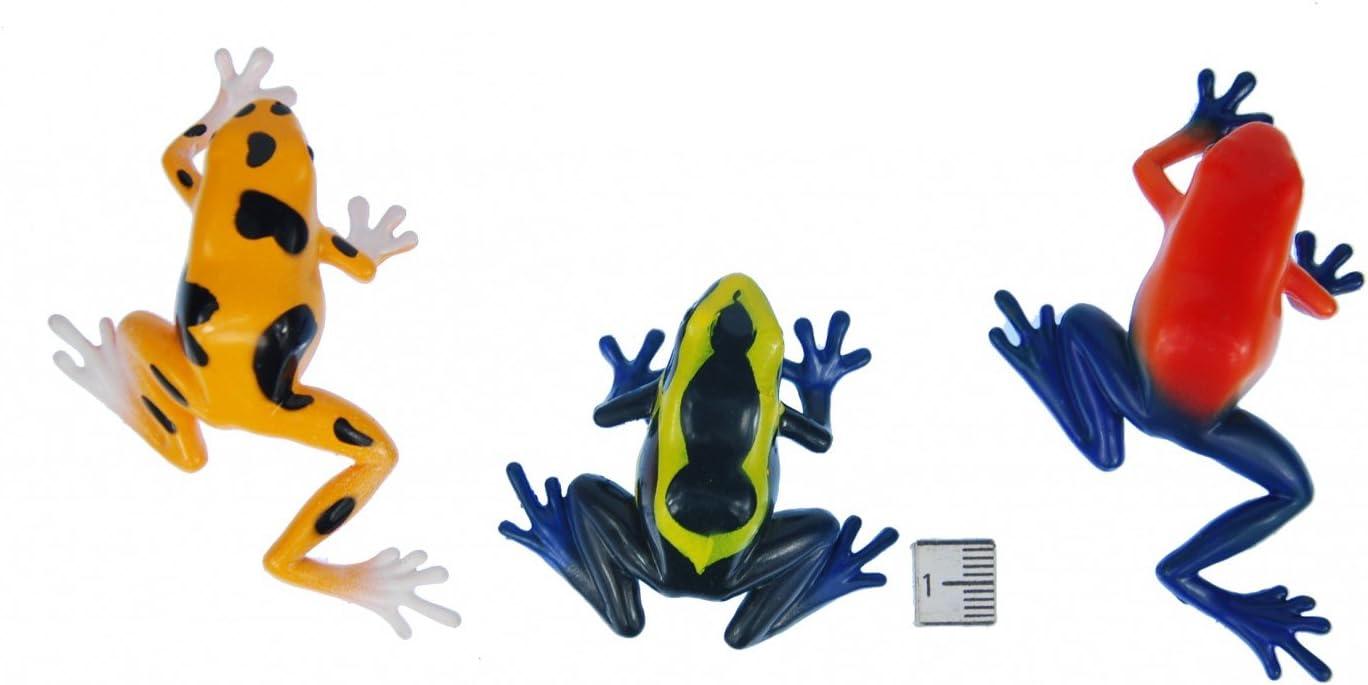 Miniblings Set Of 6 Frog Animal Figure Figures Figurines Rubber Amphibians