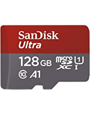 SanDisk Ultra 128 GB microSDXC Memory Card + SD Adapter with A1 App Performance Up to 100 MB/s, Class 10, U1