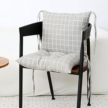 LJu0026XJ Esszimmer Stühle Kissen,Verdickte Pads Weichen Stuhl Stuhlkissen Mit  Krawatten Sitzkissen Für Büro Stock