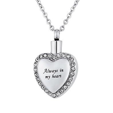 Amazon.com: Valyria Always in my heart urna collar camafeo ...