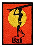 ''Bali'' Surfboard Beach Bum Wave Rider Ocean Surf Sew On Applique Patch