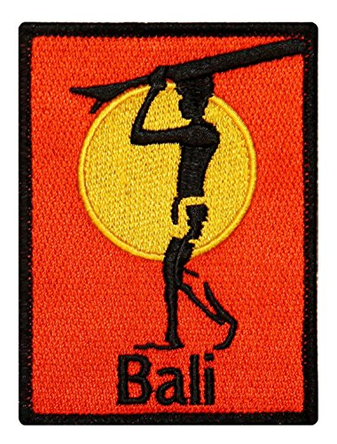 ''Bali'' Surfboard Beach Bum Wave Rider Ocean Surf Sew On Applique Patch by Mia_you