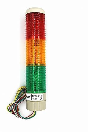 Amazon.com: Nxtop Luz de señalización industrial columna LED ...