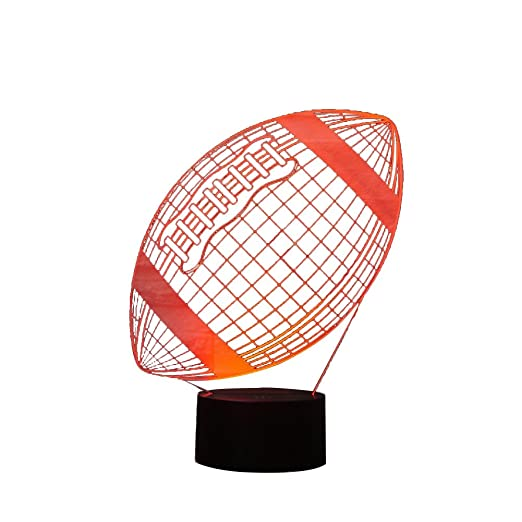 ink2055 Lámpara LED de Noche con Diseño de Balón de Fútbol, 7 ...