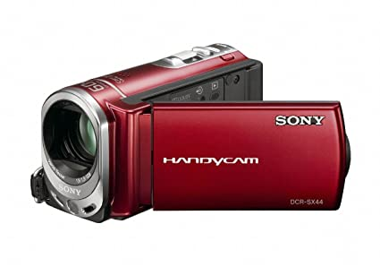 amazon com sony dcr sx44 flash memory handycam camcorder red rh amazon com sony handycam dcr-sx44 manual pdf sony handycam dcr-sx44 driver