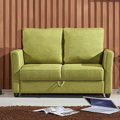 U.S. Pride Furniture Modern Loveseat with Storage Compartment