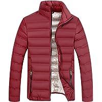 BESBOMIG Chaqueta Acolchada Puffer Jacket Chaqueta para Hombre - Ligera y Suave, Ajustado Deportiva Cierre De Cremallera