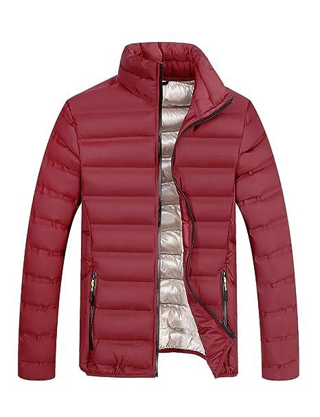 BESBOMIG Chaqueta Acolchada Puffer Jacket Chaqueta para Hombre - Ligera y Suave, Ajustado Deportiva Cierre De Cremallera: Amazon.es: Ropa y accesorios
