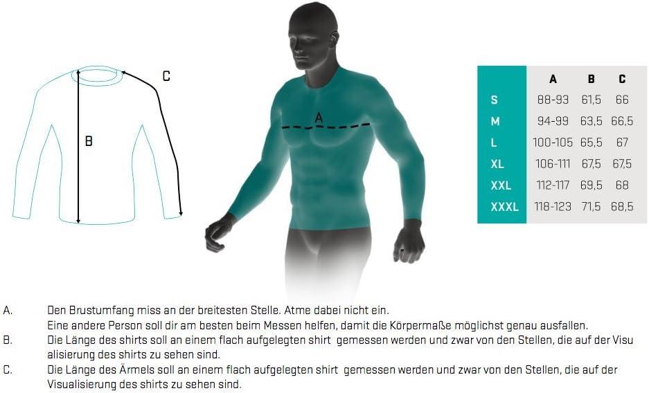Sportoberteile f/ür Fitness Langarm Funktionsshirt M/änner MMA Crossfit SMMASH X-WEAR Invisible Herren Compression Langarmshirt Krav MAGA Sport Longsleeve Slim Fit Sportshirt