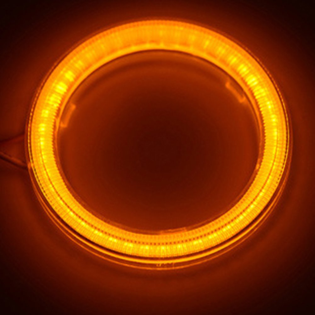 luce bianca 6500/K diametro 60 mm tensione DC12/V Taben Anello LED COB 45SMD luminoso Lampada per fari Angel Eyes 1 coppia