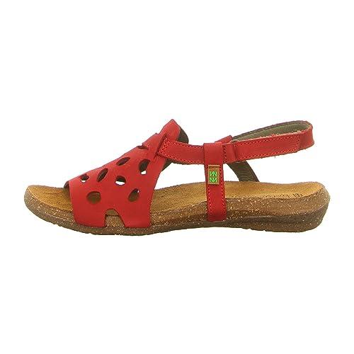 N5064 Pleasant Tibet/Wakataua Rosso Donna 40 Sandali Velcro MWECjMS