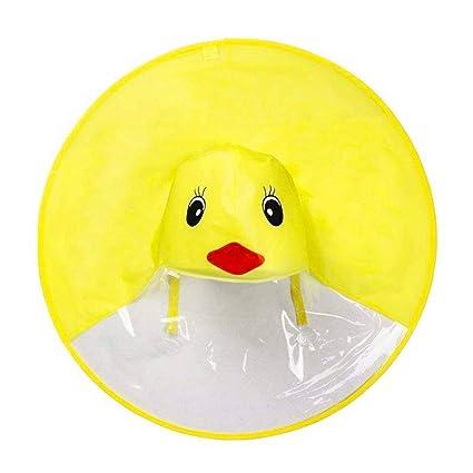 Uarashi Creative UFO Headwear impermeable impermeable sin manos Portable Duck impermeable paraguas, cubierta impermeable Cute
