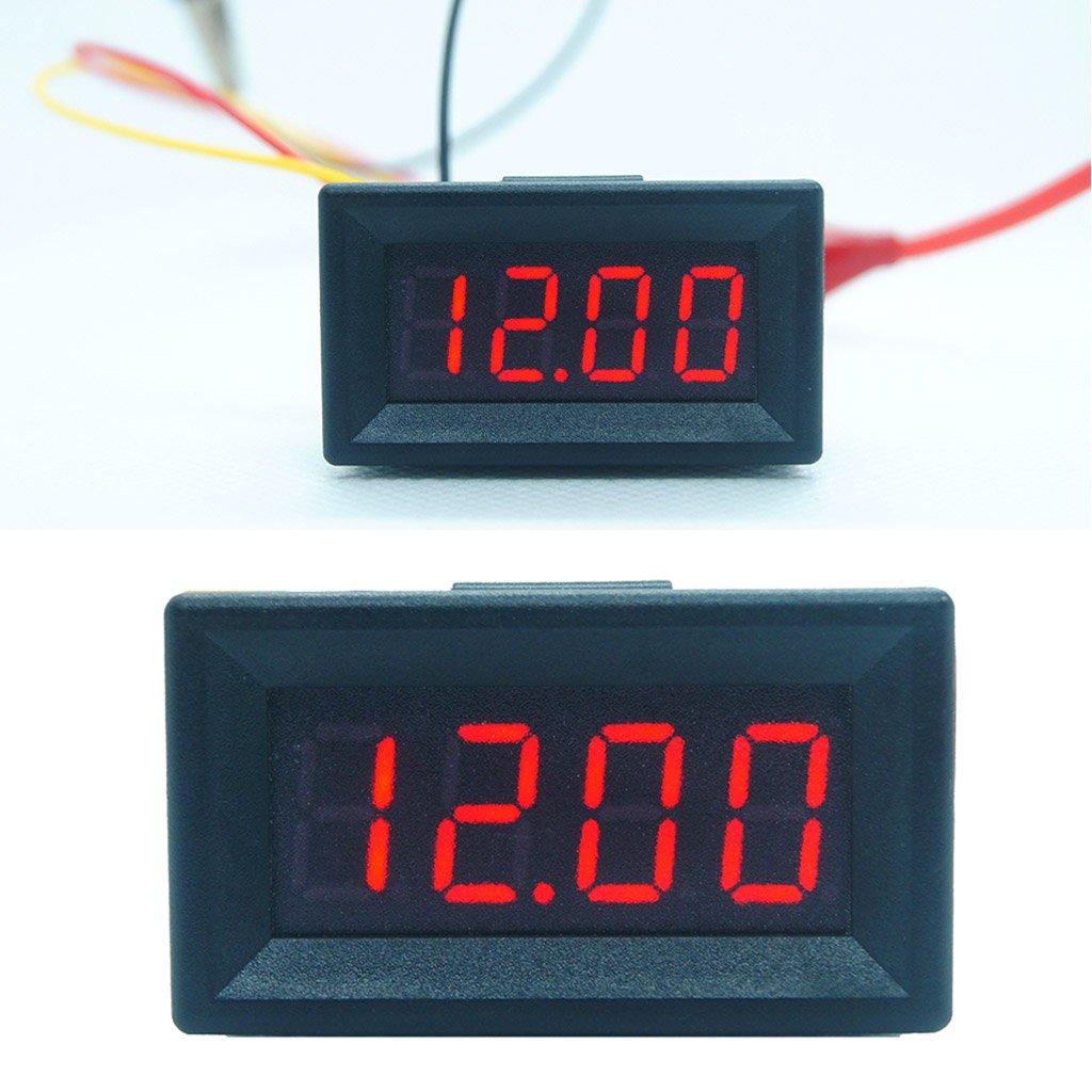 DC 0-99.99V (100V) 4-digits 0.36inch Digital Voltmeter 3Wire Voltage Panel Meter by SQLang (Image #2)