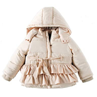 5a6029b18 Amazon.com  SNOW DREAMS Little Girls Winter Puffer Jacket Warm ...
