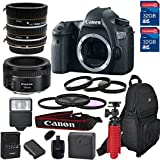 Canon EOS 6D DSLR Camera & Lens Kit With Canon EF-50MM f/1.8 STM Lens,Macro (21 Piece Bundle)