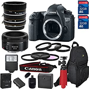 Canon EOS 6D DSLR Camera & Lens Kit With Canon EF-50MM f/1.8 STM Lens,Macro (21 Piece Bundle )