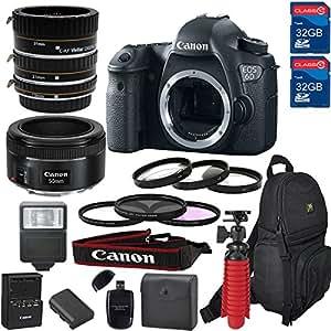 Canon EOS 6D DSLR Camera & Lens Kit With Canon EF-50MM f/1.8 STM Lens,Macro (21 Piece Bundle )