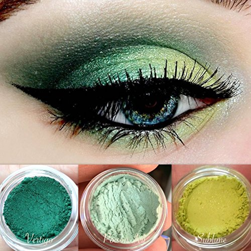 Poison Ivy Costume Makeup (Green Eyeshadow Palette | All Natural Mineral Makeup | Vegan, Cruelty Free Cosmetics | Get this Look Trio