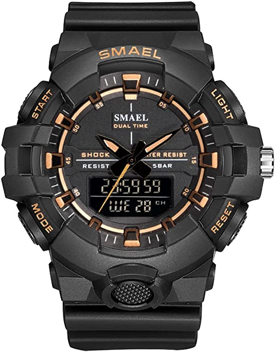 Basic - Reloj digital deportivo para hombre con reloj digital para hombre
