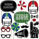 Big Dot of Happiness End Zone - Football Photo Booth Props Kit - 20 Count
