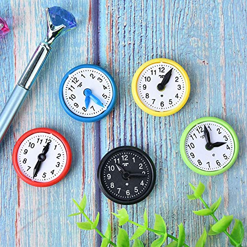Nolvalz - - 5 Pcs Hand Appropriated Clock Sd Fridge Magnet Teaching Whiteboard Home Decor Message Board - Kids Europe Note Unicorn Opener Black Inspirational Colored Silver Indiana from Nolvalz