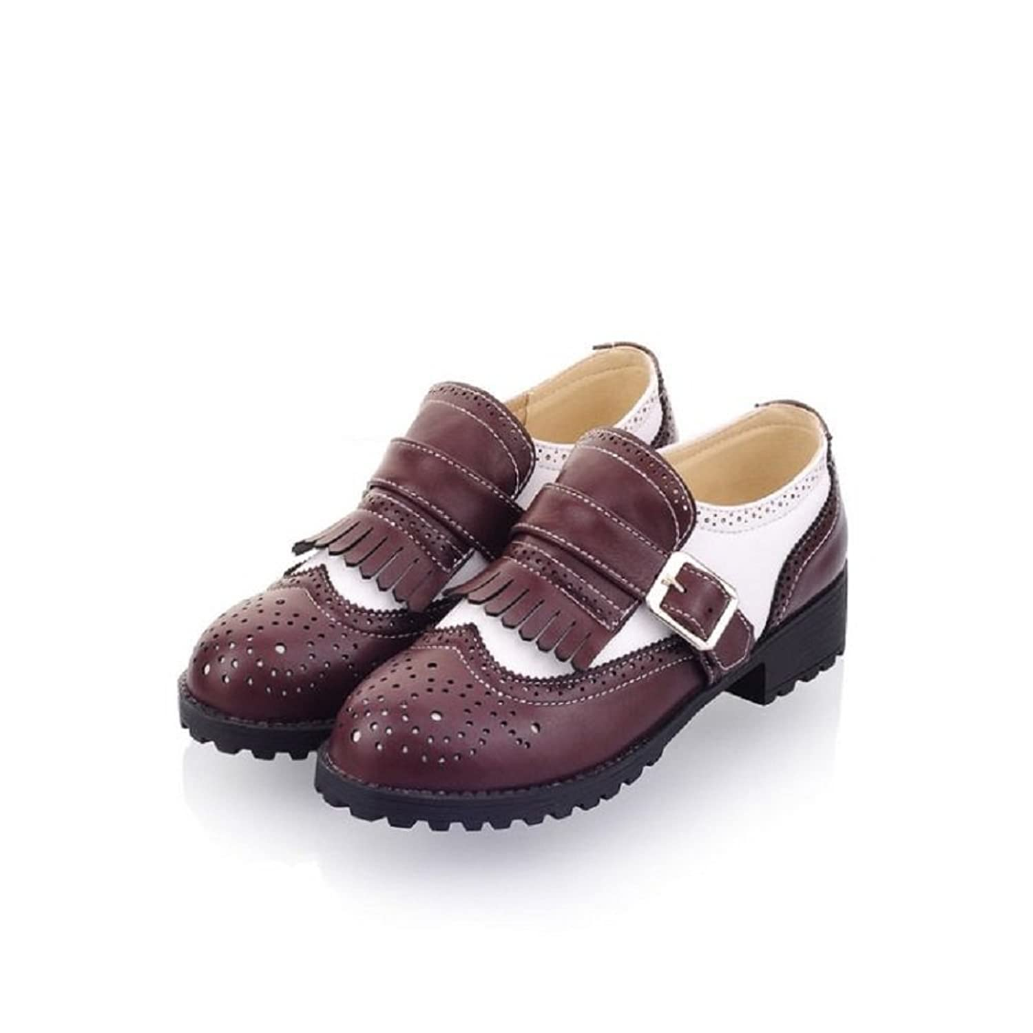 Charm Foot Fashion Womens Low Heel Casual Shoes Oxfords Shoes