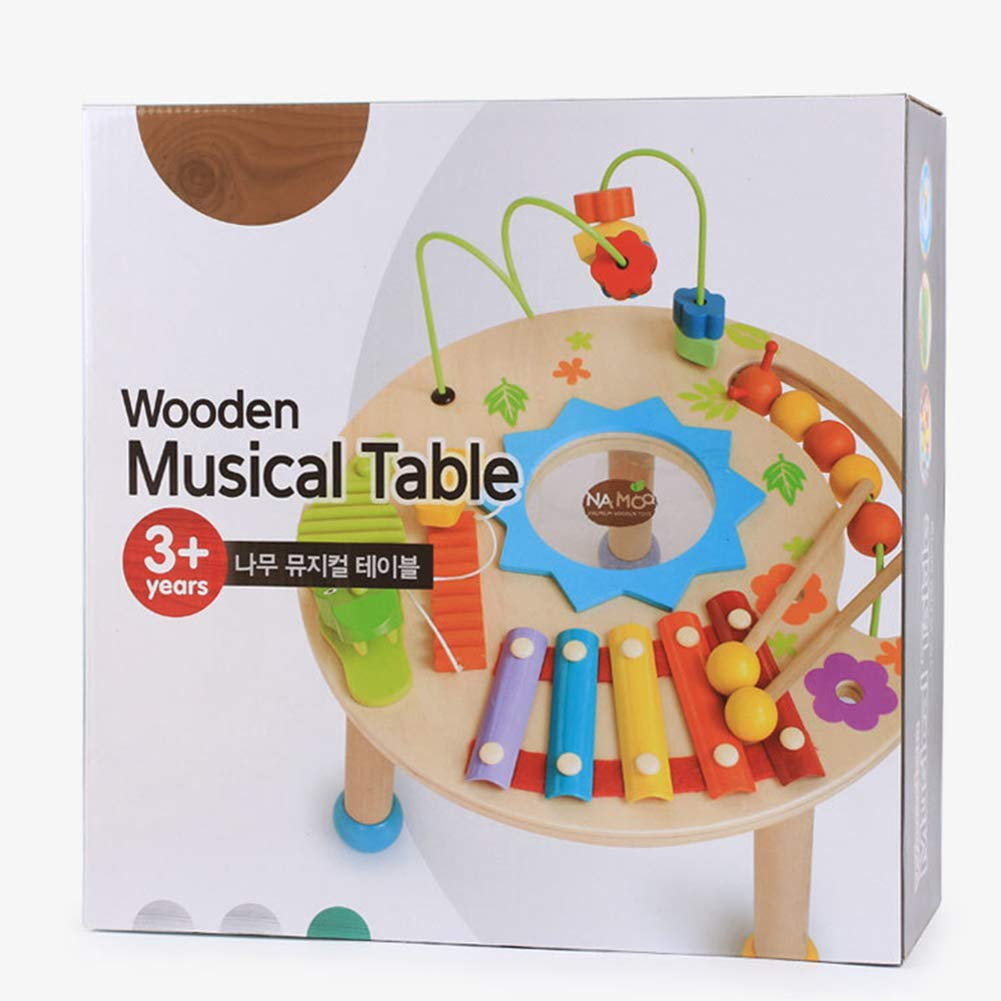 MG.QING Knock Piano Music Table Baby Multi-Function Game Table Baby Puzzle Early Education Wooden by MG.QING (Image #6)