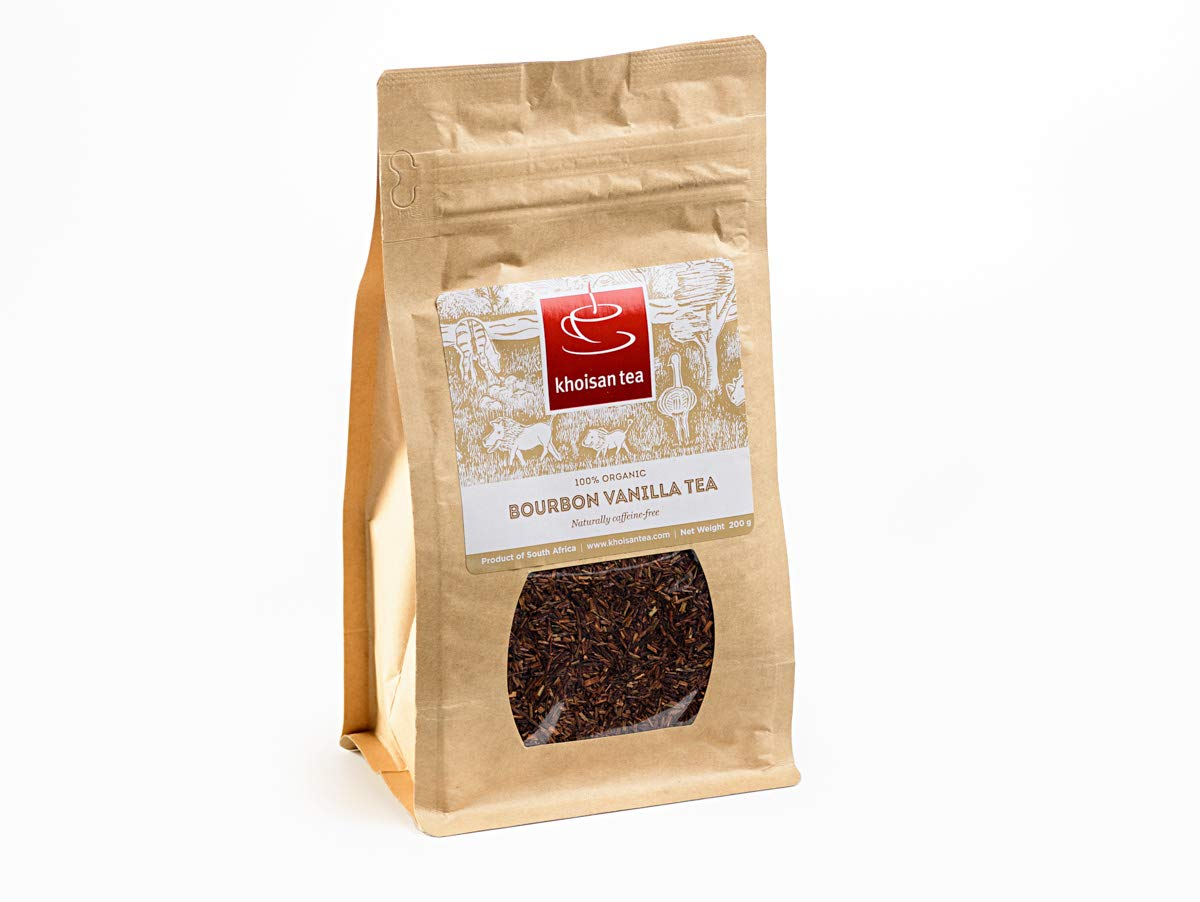 Khoisan Tea 100% Organic Rooibos Bourbon Vanilla Loose Tea 200g by Khoisan Tea