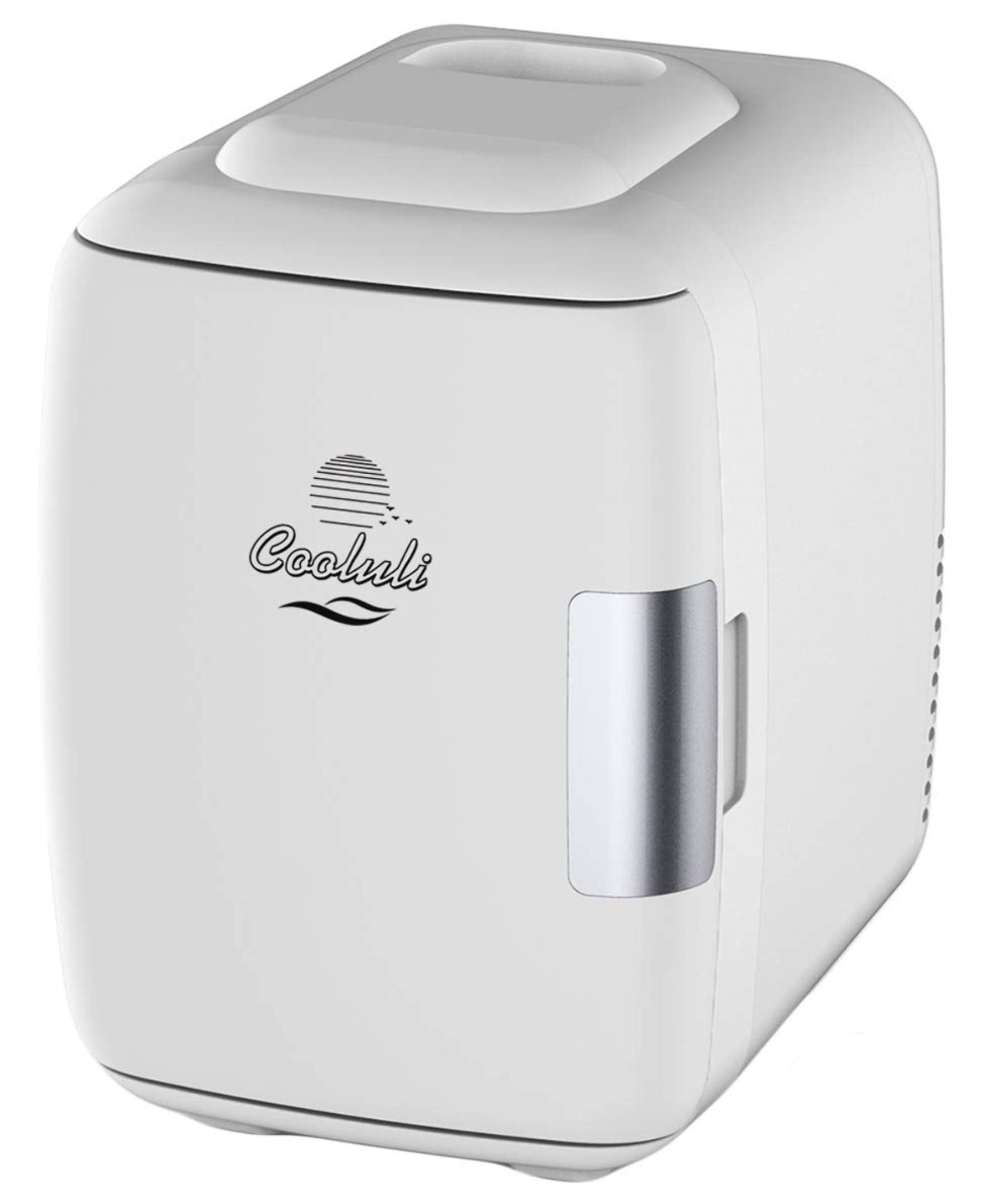 Cooluli Mini Fridge Electric Cooler and Warmer (4 Liter / 6 Can): AC/DC Portable Thermoelectric System w/ Exclusive On the Go USB Power Bank Option (White) by Cooluli