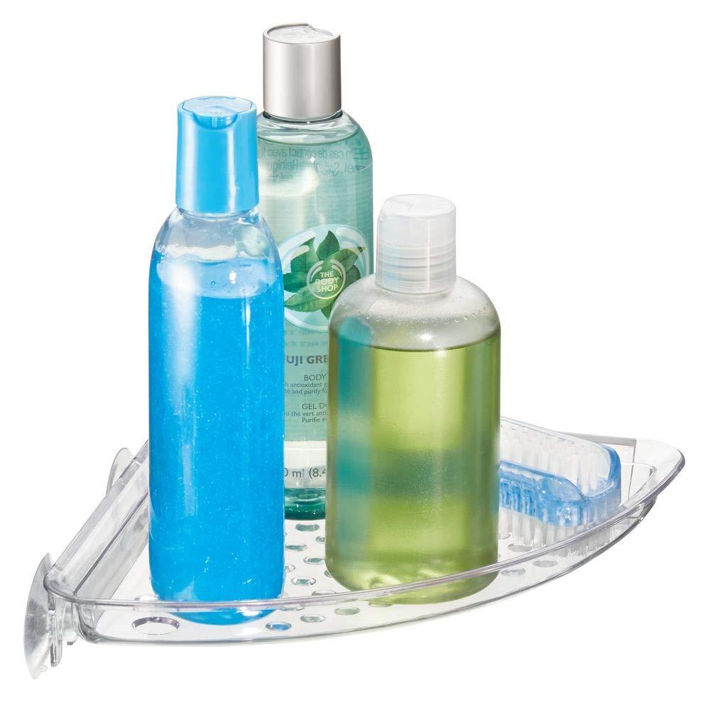 Amazon.com: InterDesign Suction Bathroom Shower Caddy Corner Shelf ...