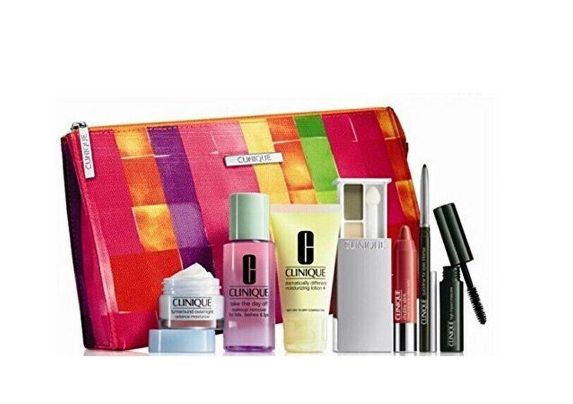 Amazon.com : Clinique 8 Pieces Makeup & Skincare Gift Set 2015 ...