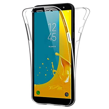 hot sale online b66fd 2ddfa SDTEK Case for Samsung Galaxy J6 (2018) Full Body Protection 360 Gel Cover  Clear Transparent Soft Silicone
