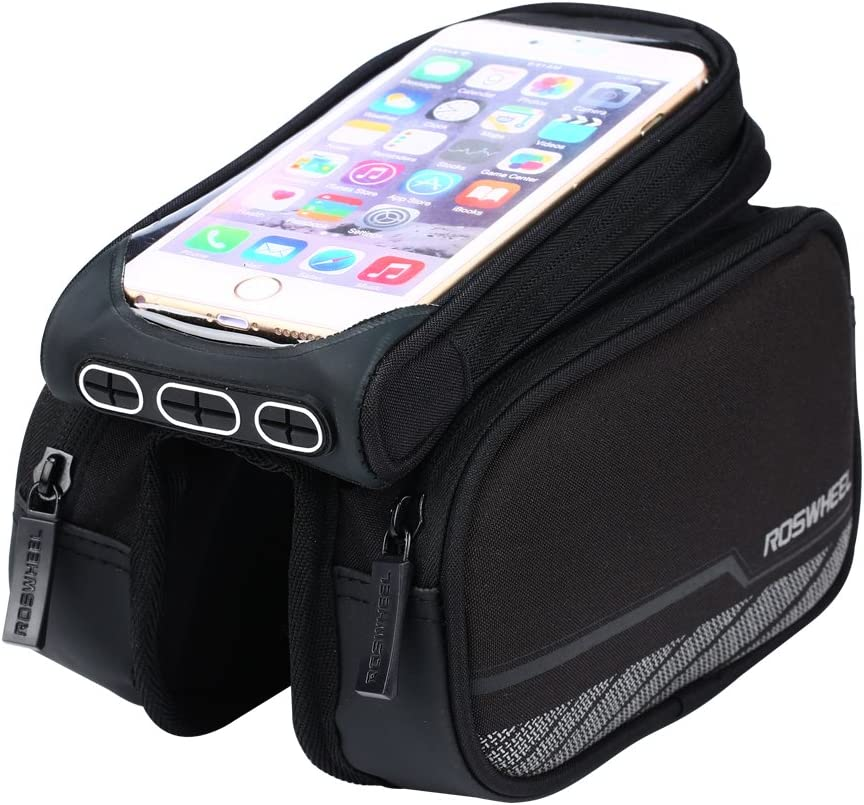Road Bike Bicycle GPS Smart Phone Waterproof Tube Pouch Bag Case Holder 4-5.5IN❤
