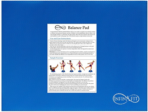 Infinafit Foam Balance Pad | 17 x 13 x 2.4 inch Soft Pad for Core Strengthening, Sports Training, Yoga, Physical Therapy, Rehabilitation, Cushioning and More (Blue)