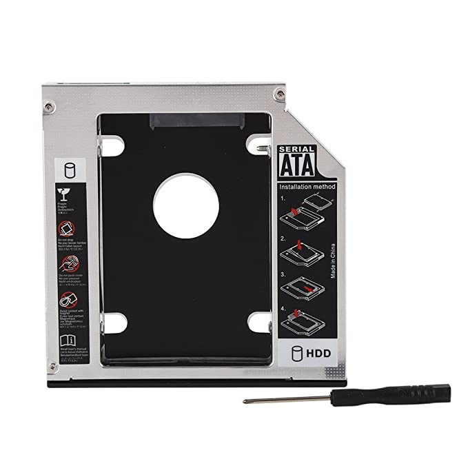 Yusun 9.5 mm universal SATA 2 nd HDD disco duro SSD Caddy para CD ...