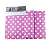 Fu Global #0 6x10 Inches 25pcs Poly Bubble Mailers Dot Padded Envelopes Pink