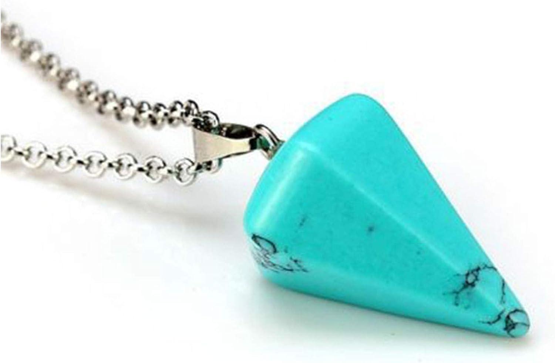 yunshenbuzhichu Reiki tamaño pequeño Collar Colgante Ajustable Mar meditación cristalina Hexagonal Amuleto Boda de Piedra Natural